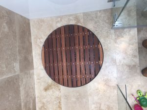 Timber Shower Floor Waste Drain